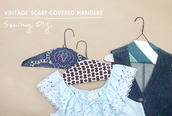 DIY | Vintage Scarf Covered Hangers - Making Nice in the Midwest