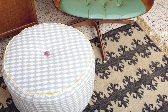 Diy Structured Pouf Ottoman Making Nice In The Midwest