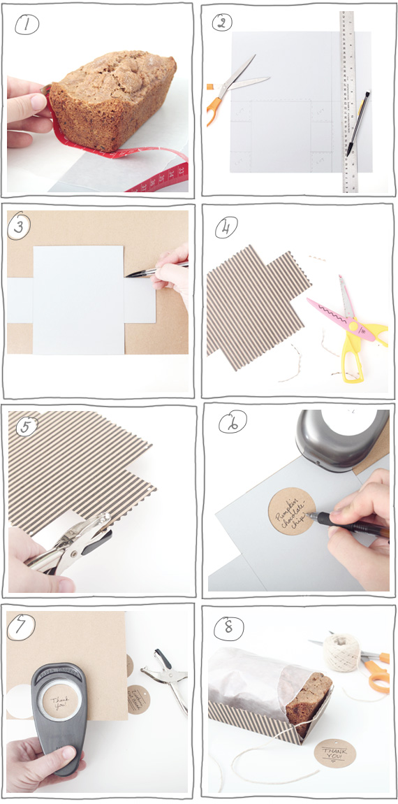 instructions on how to make paper tube bread box