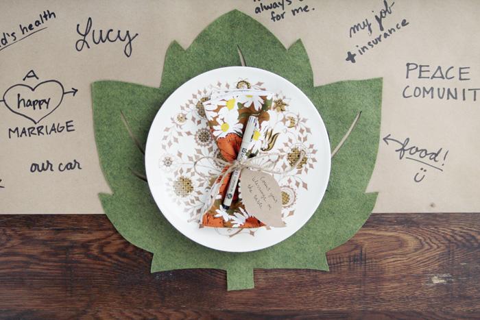 Thanksgiving Table Setting Felt Placemat DIY