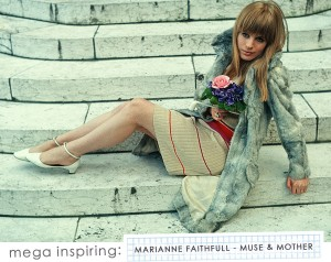 Style Icon: Marianne Faithful l via Making Nice in the Midwest