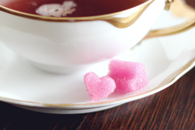 heart shaped sugar cubes DIY