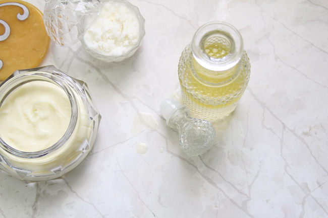 DIY Skincare- All natural recipes for cold cream, exfoliating scrub, and eye makeup remover