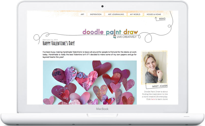 Doodle Paint Draw blog design by Mandi of Freckled Nest
