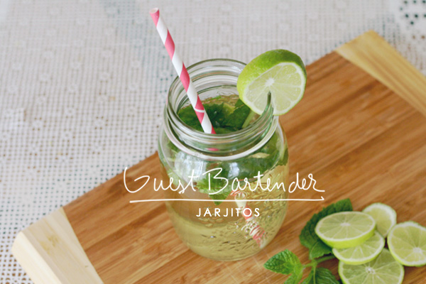 vodka mojitos in a jar