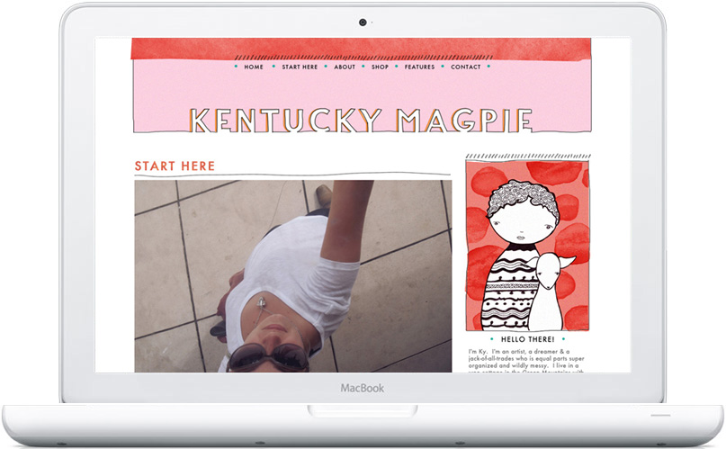 Kentucky Magpie blog design by Mandi of Freckled Nest