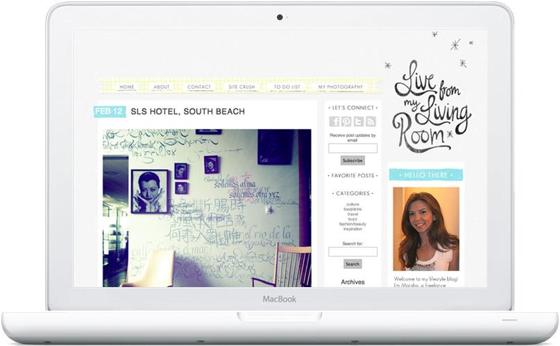 Live Living Room blog design by Mandi of Freckled Nest