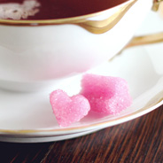 heart sugar cubes diy