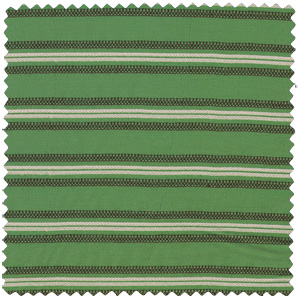 green striped rayon apparel fabric