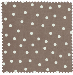 cocoa brown polka dot apparel fabric