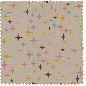 tan brown mid century star apparel fabric vintage inspired