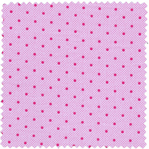 pink polka dotted apparel fabric