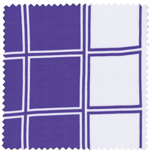 purple white mod check apparel fabric