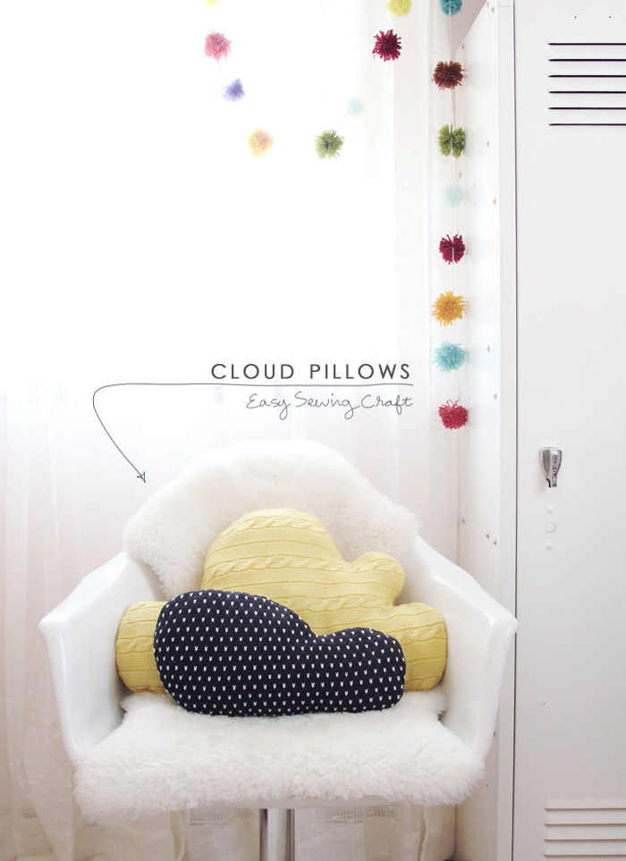 knit cloud pillow sewing diy