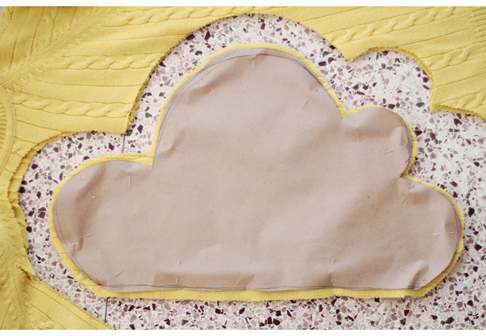 cloud pillow DIY