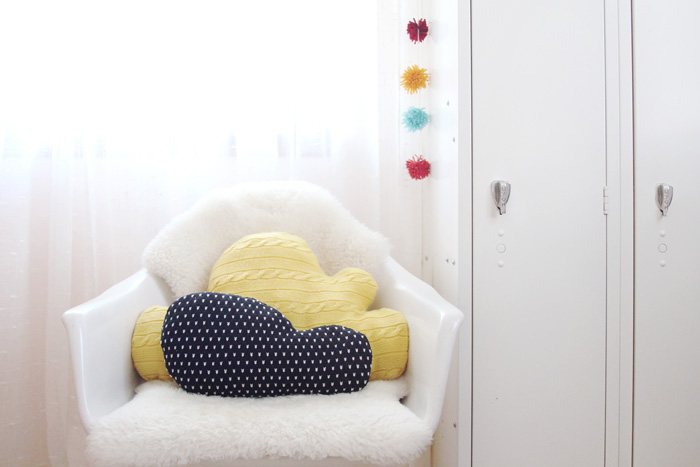 sweater cloud pillows