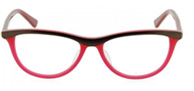 red and brown modern cateye glasses