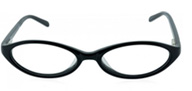 modern black cateye glasses
