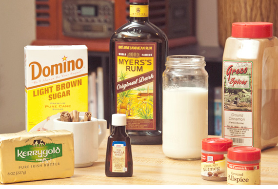 hot buttered rum ingredients