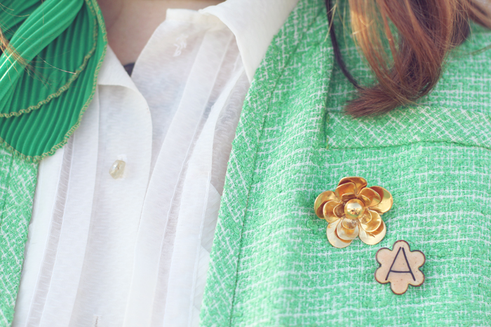 vintage brooches on Mandi from Making Nice in the Midwest