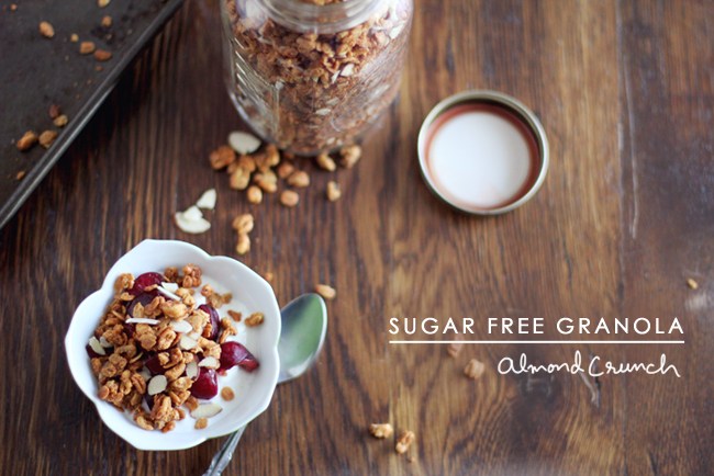 Sugar Free Granola Recipe - made with healthy, whole foods