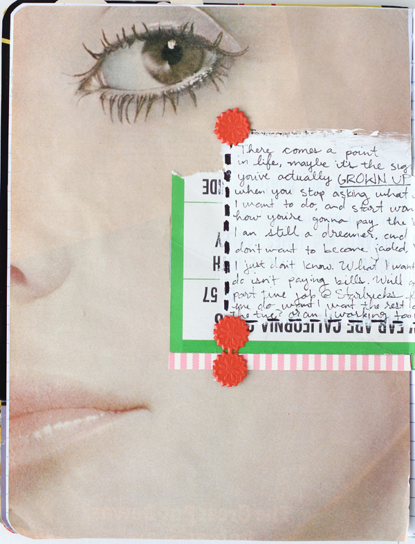 Mandi's art journal from Making Nice in the Midwest