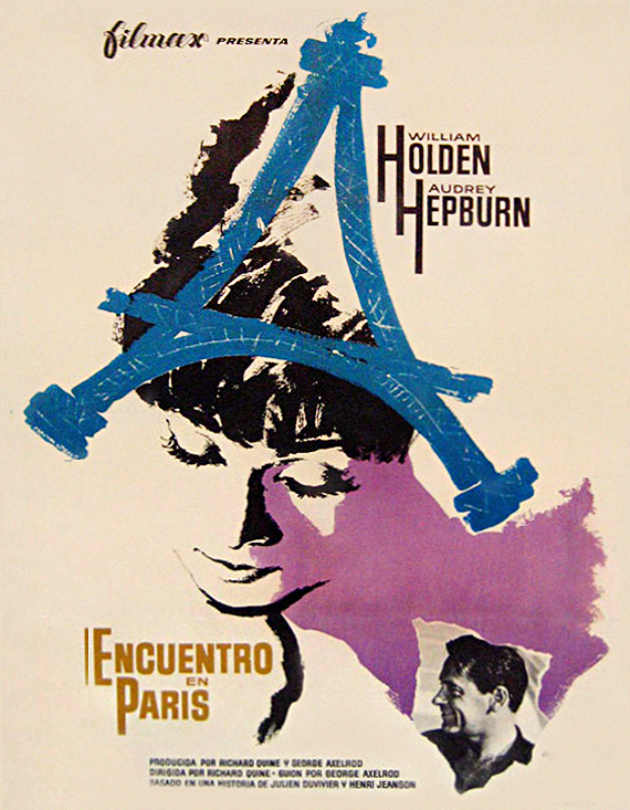 Paris When it Sizzles- Spanish movie poster