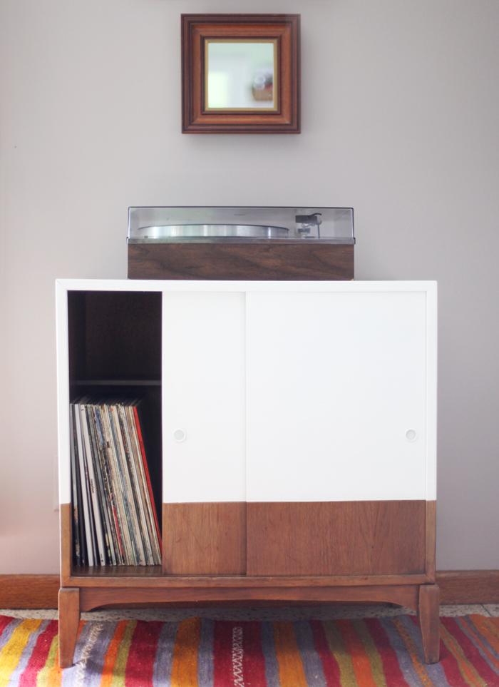record cabinet makeover- Making Nice in the Midwest