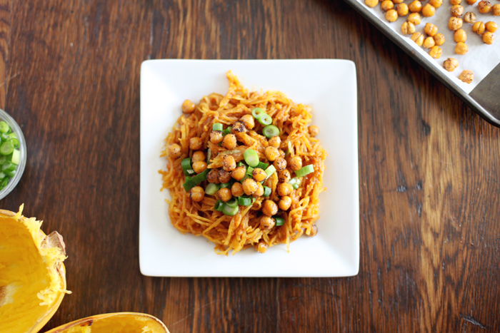Spaghetti Squash Curry with Roasted Chickpeas - Making Nice in the ...