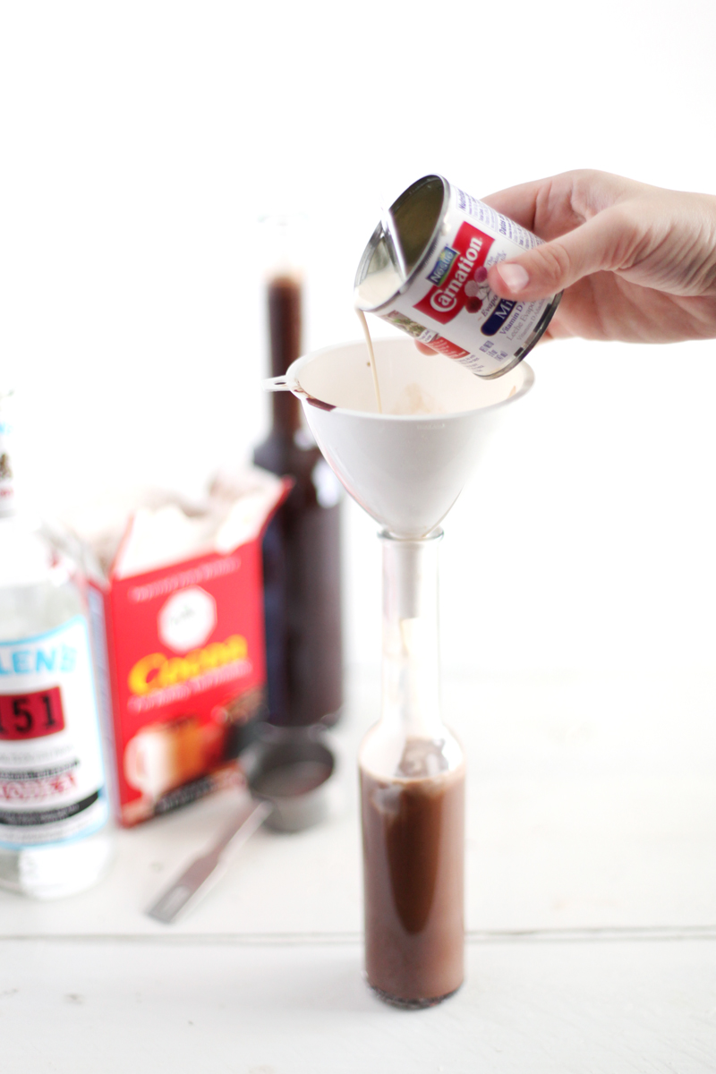 Make your own chocolate liqueur with this recipe