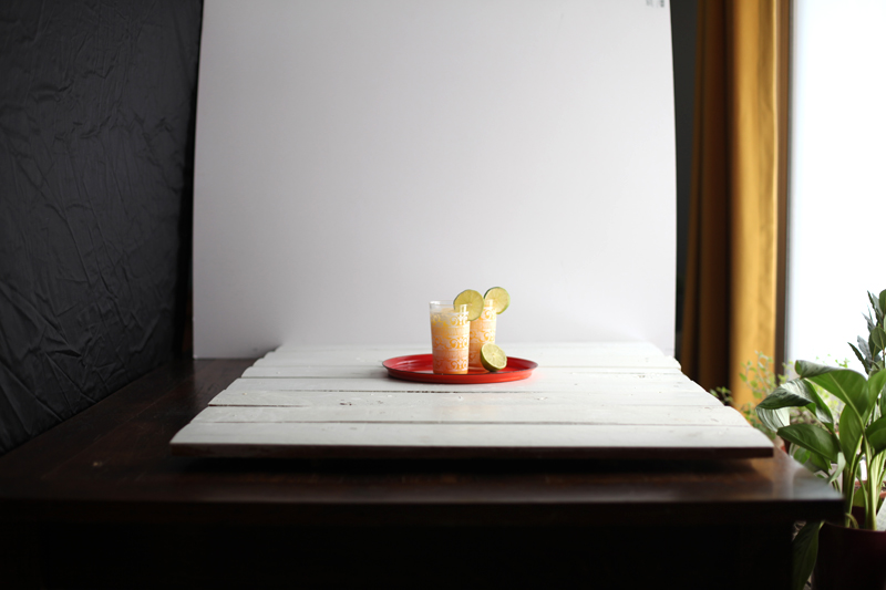 Creating dramatic shadows in food and product photography