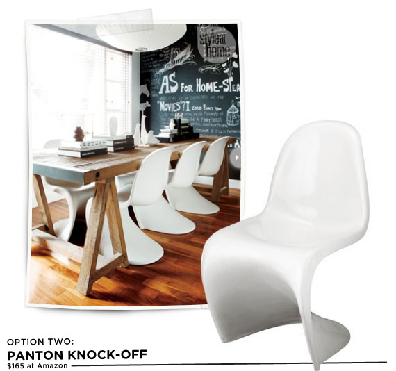 Panton knock-off chair