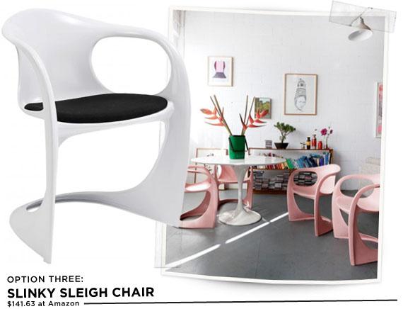 Modern Sleigh Chair