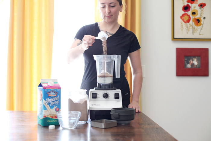 Vegan Post-Workout Chocolate Milkshake - for some yum after your run!