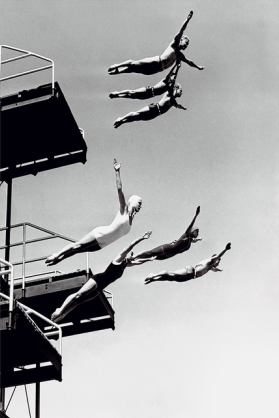 diving swimmers photo print