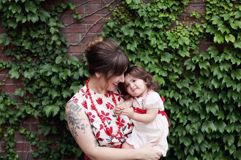 Vintage-inspired Mother/Daughter style on Making Nice in the Midwest