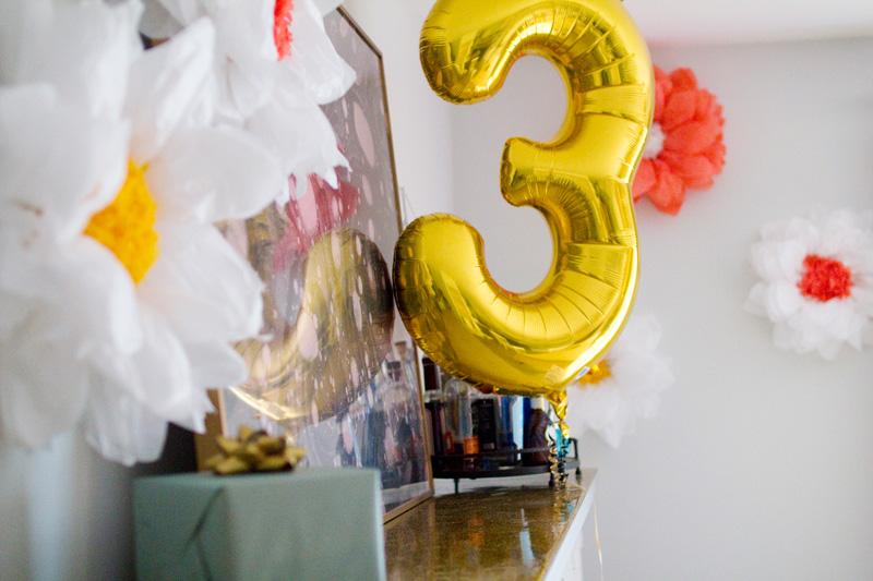 third birthday party