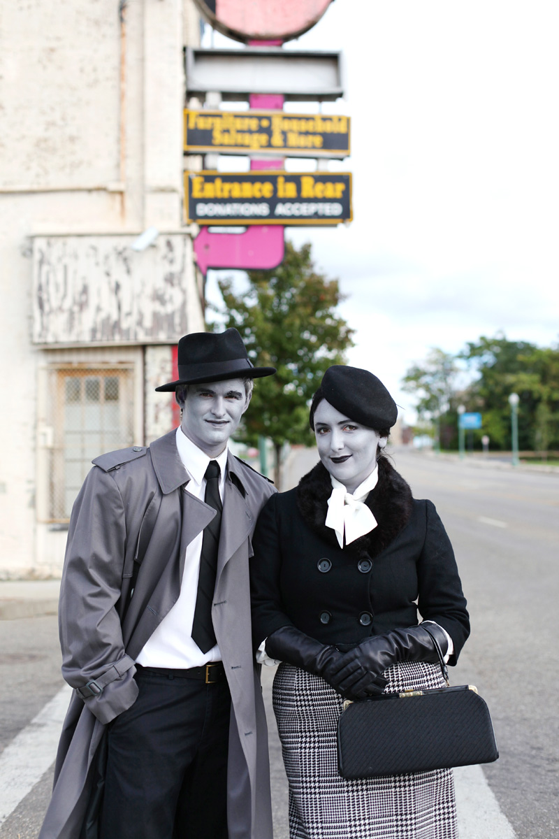 diy halloween: film noir grayscale costume | babble