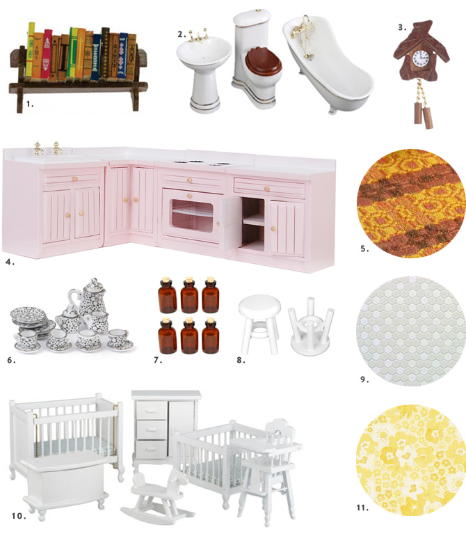 1-12 dollhouse accessories