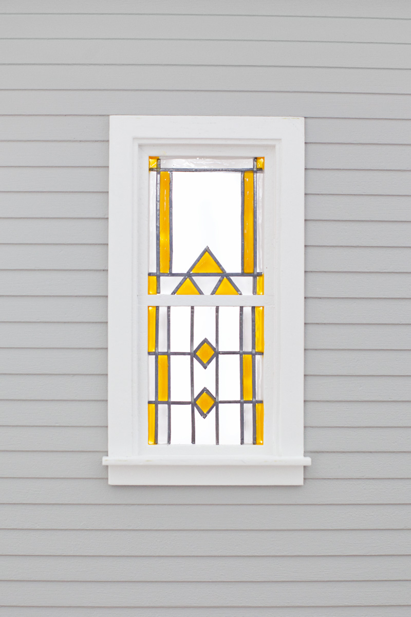 Dollhouse Stained Glass Window