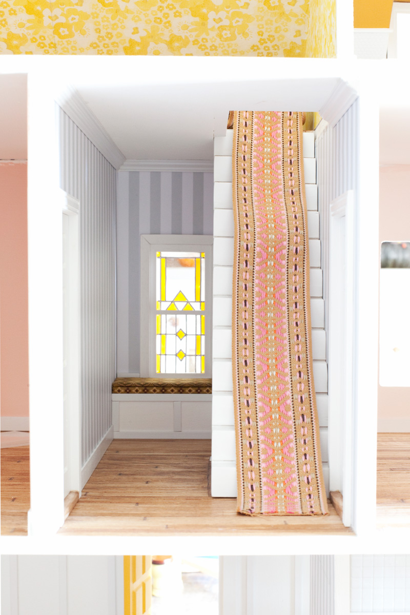 Dollhouse Hallway with Window Seat