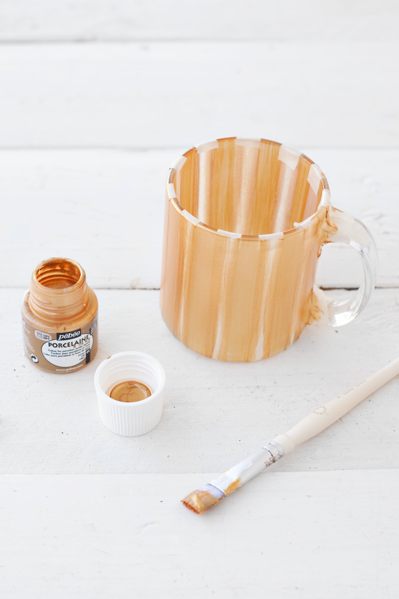 DIY Painted Striped Mug