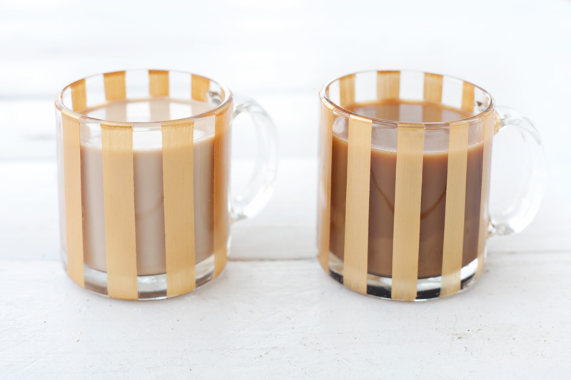 DIY Painted Striped Mug with International Delight
