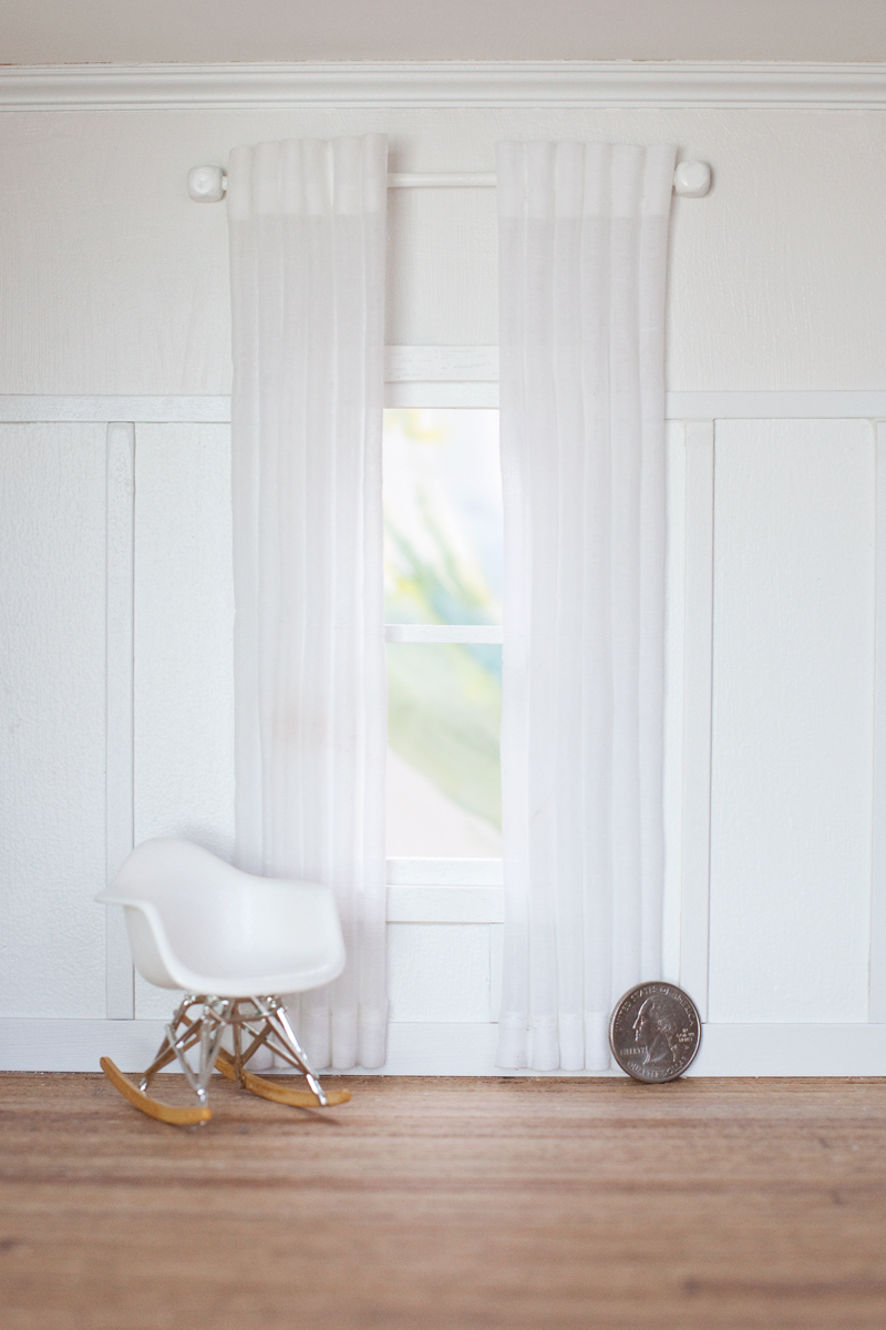 Modern Dollhouse Curtains