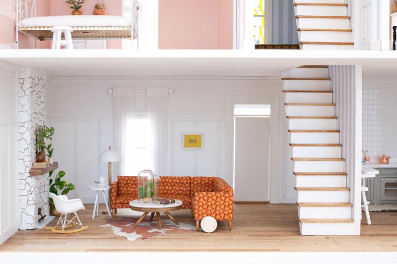 Mid Century Modern Miniature Dollhouse