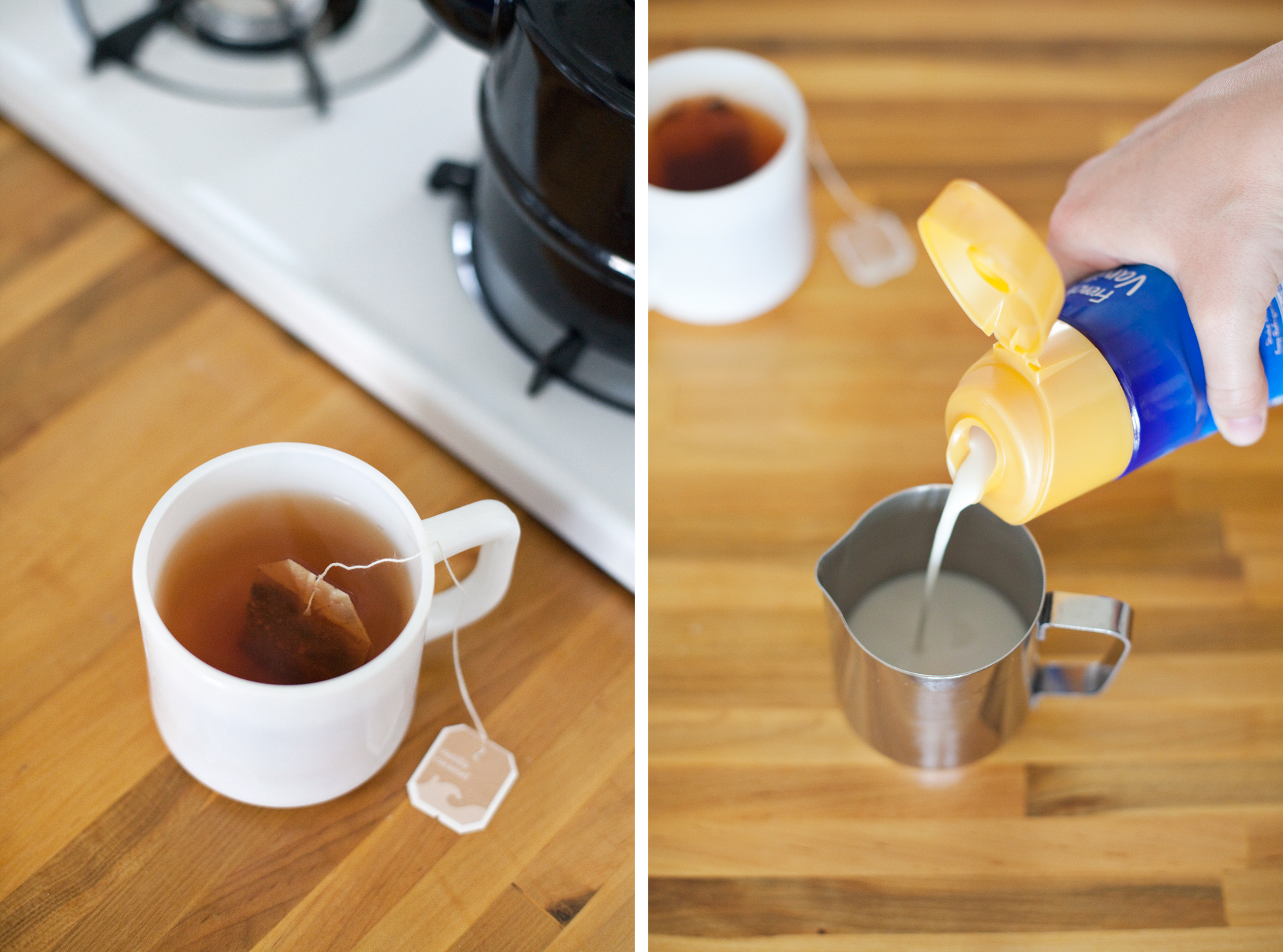 Make a delicious frothy chai latte with no expensive tools