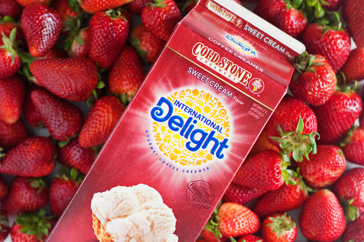strawberries and cream with International Delight
