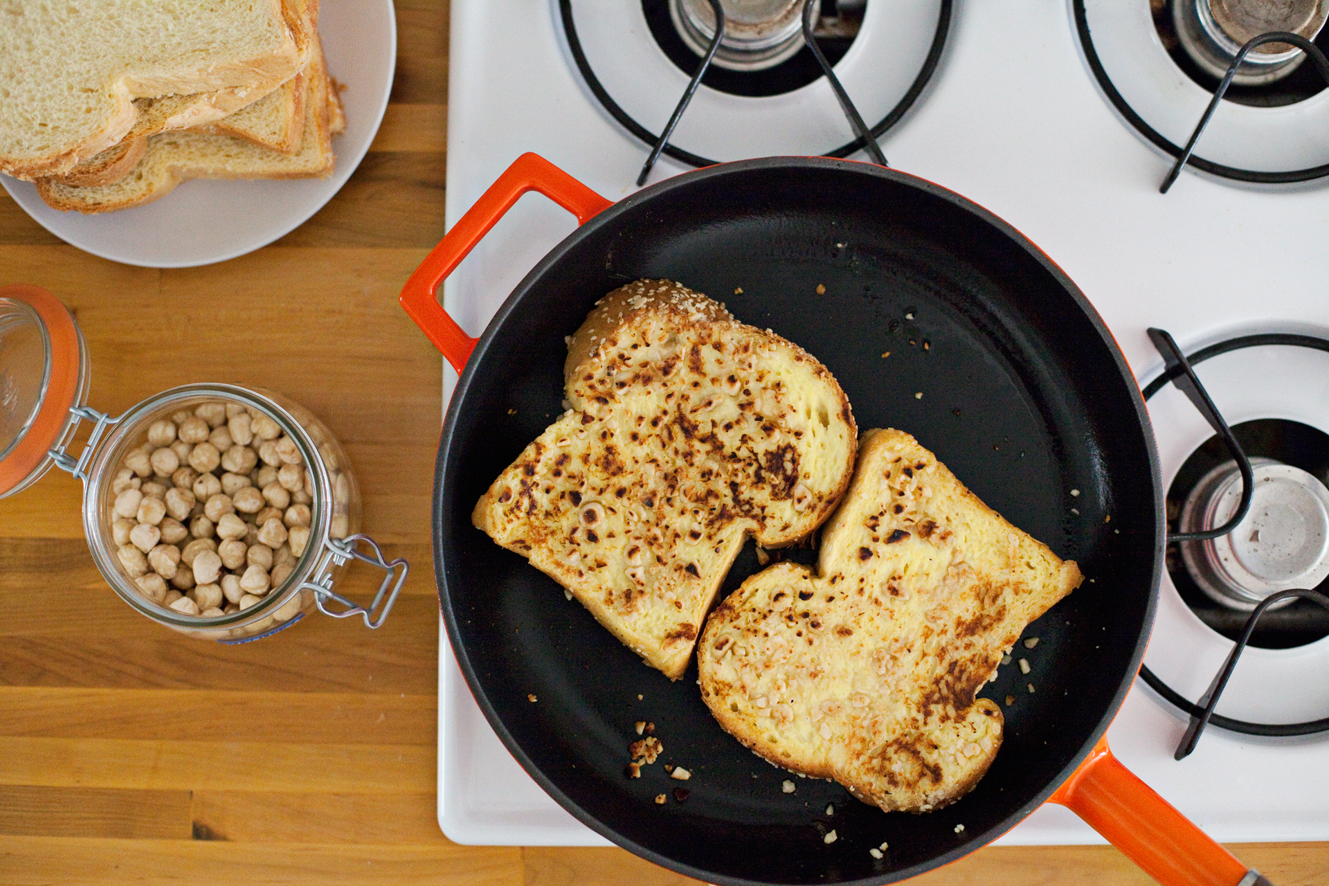 hazelnut crunch french toast