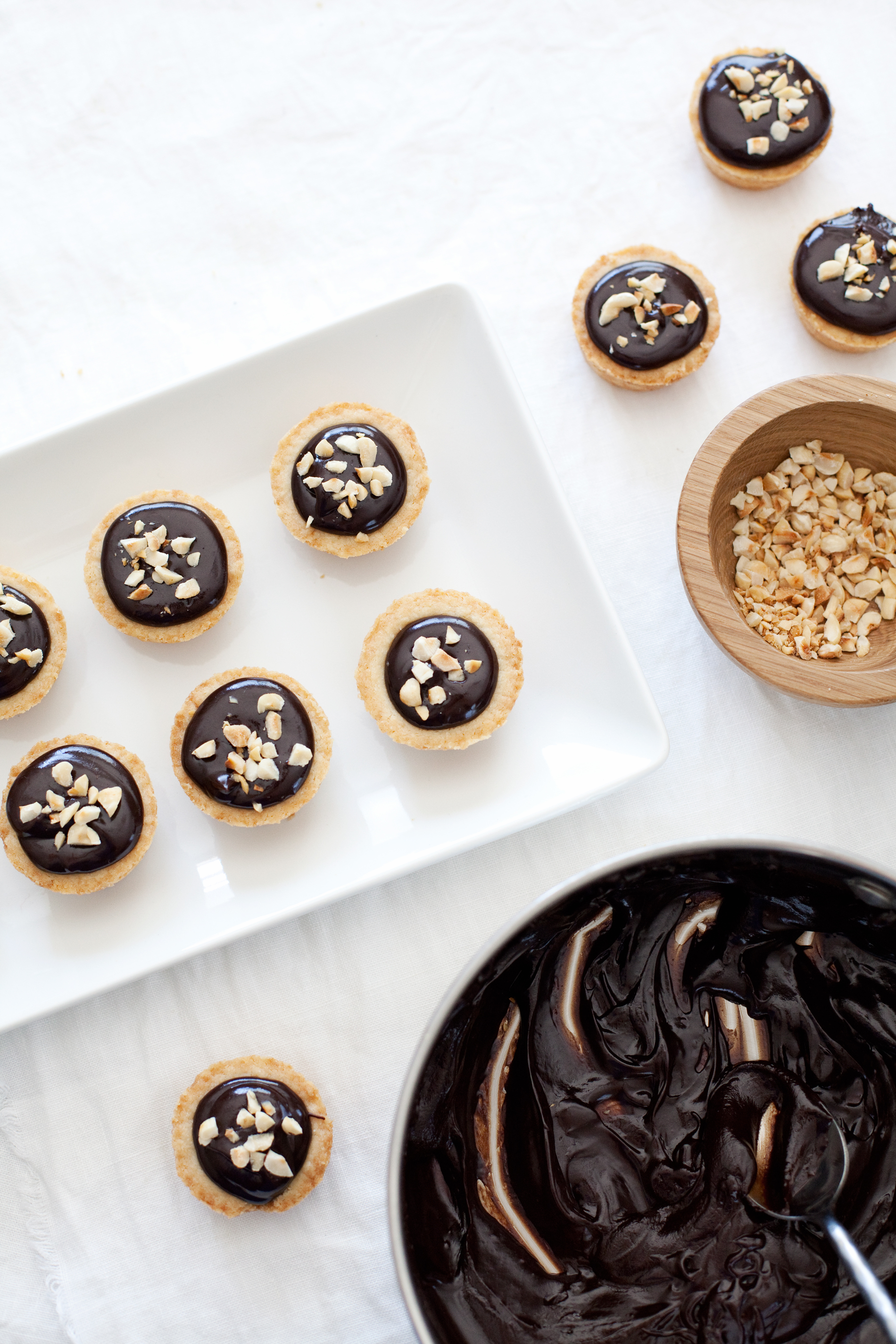mini chocolate hazelnut tarts recipe