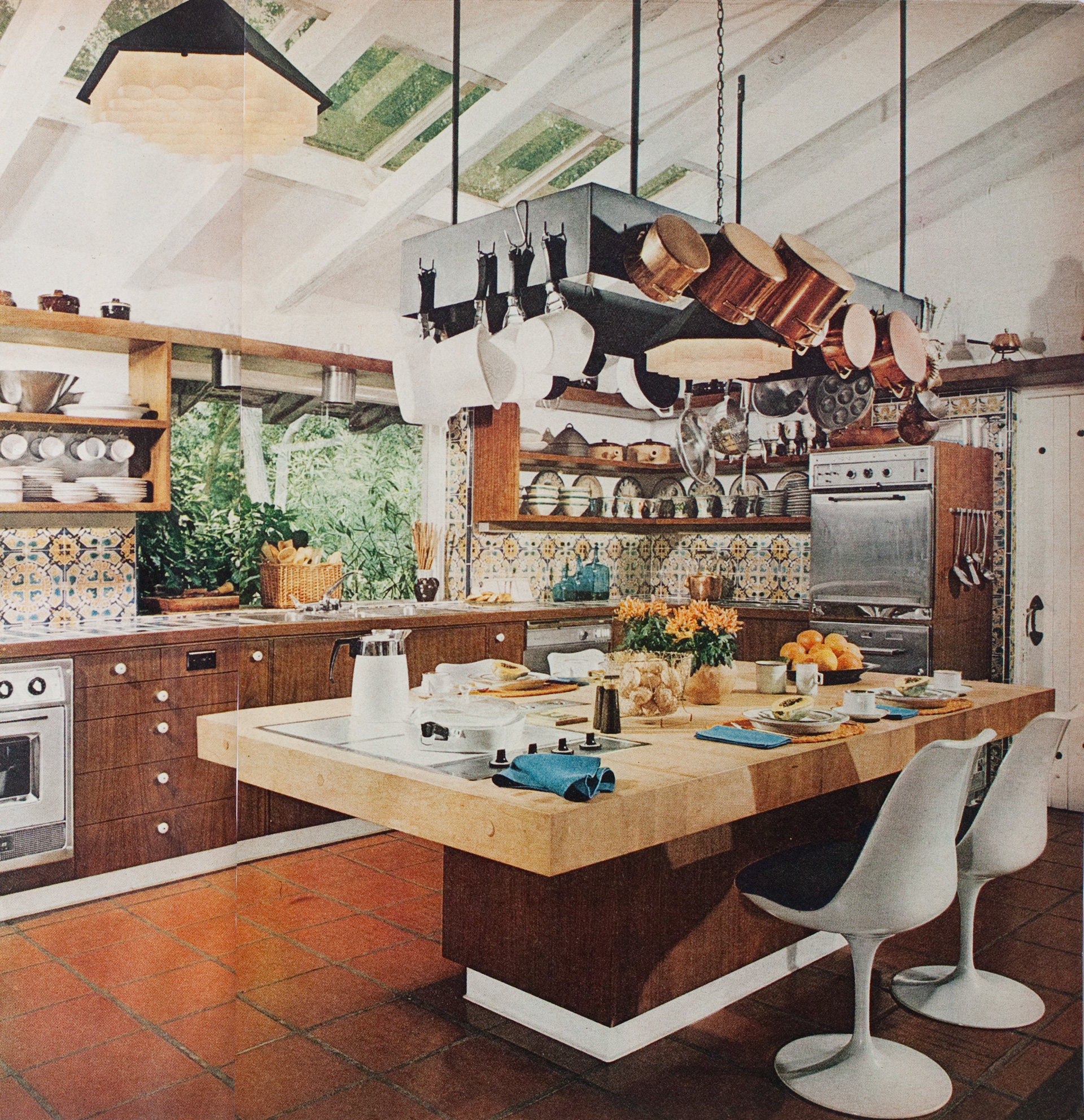 1970s boho modern kitchen